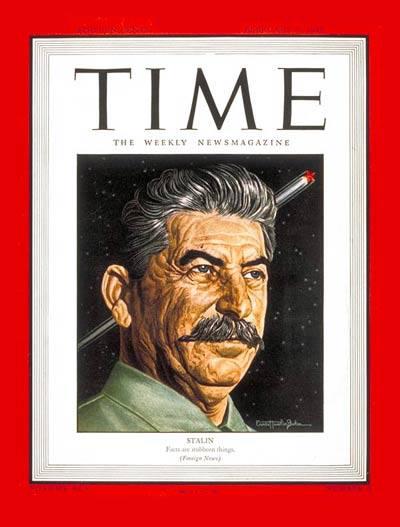 Stalin, copertina sul Times