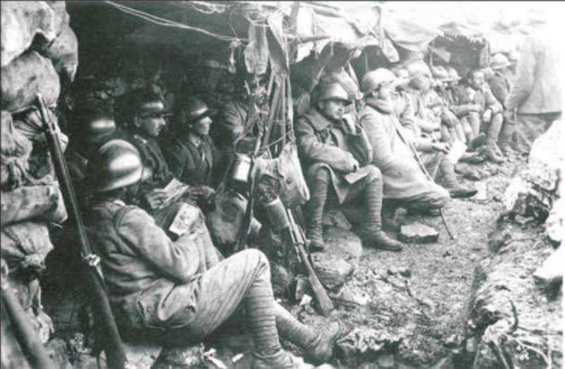 trincee nella prima guerra mondiale